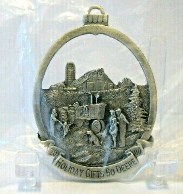 John Deere 2000 Pewter Christmas Ornament Holiday Gifts 1st Series Crouse Winter
