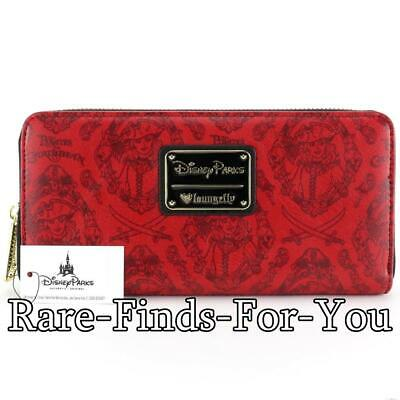 Disney Parks Pirates of the Caribbean Redd Zip-Around Loungefly Wallet NEW/TAGS