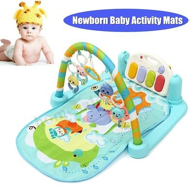 Baby Gym Play Mat Lay & Play 3 in 1 Fitness Music And Lights Fun Piano Activity