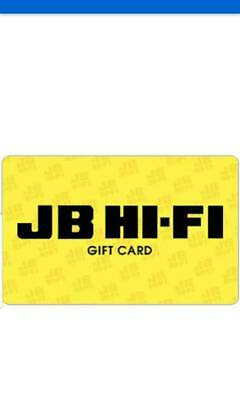 Jb hifi gift card of various denominations for sale
