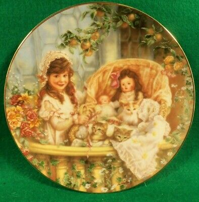 "Collector Plate  ""Cars in the Cradle"" by Sandra Kuck. from ""Hearts and Flowers'"