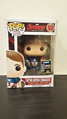 Funko Pop! Avengers Age of Ultron Captain America Unmasked #92 2015 SDCC Excl