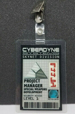 Terminator ID Badge-Cyberdyne Systems Skynet Project Manager costume cosplay