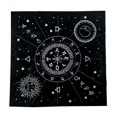 Astrological Tarot Cloth Decor Divination Cards Wicca Velveteen Square Tapestry