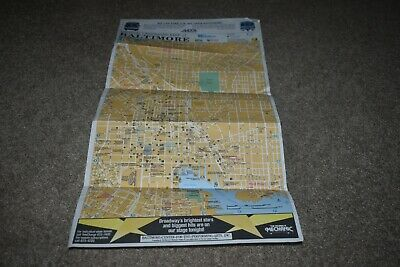Official Landmark Map of Baltimore MD 1990
