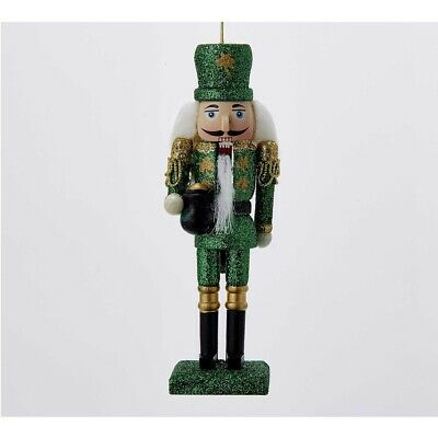 Irish Nutcracker Wooden Christmas Tree Ornament C9668 New