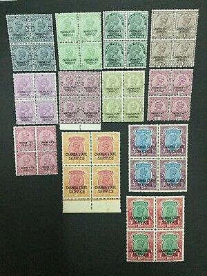 Momen: India Chamba Sg #O48-56,O58-60 Blocks Mint Og Nh Lot #193898-2340