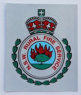 Obsolete NSW Rural Fire Service decal (large)