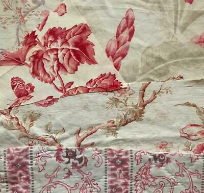 5 BEAUTIFUL SMALL PIECES 19th CENTURY FRENCH LINEN COTTON, PROJECTS, REF 203