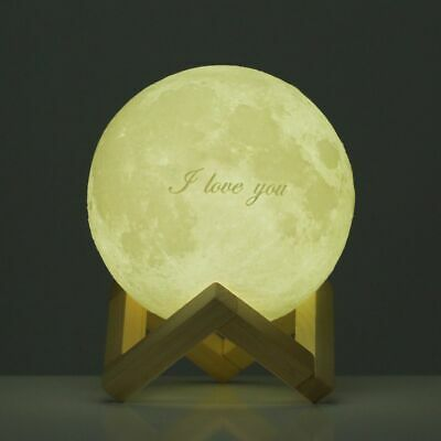 Tooarts Moon Lamp  Valentine's Day Gift I LOVE YOU 3D Printed LED Light Hot B8L8