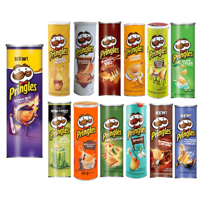 American Pringles Crisps Chips Snack 5.4oz (155g) 8+ Flavours USA Import