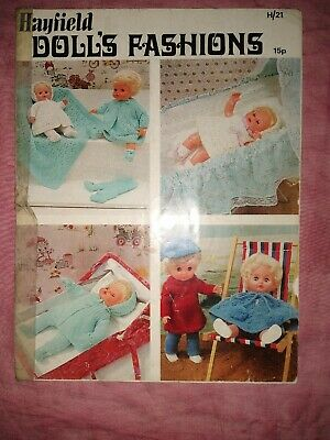 HAYFIELD DOLL'S CLOTHES KNITTING PATTERN BOOK (h21)