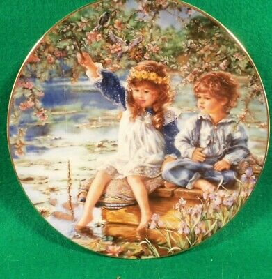 "Collector Plate  "" Patience"" by Sandra Kuck. from ""Hearts and Flowers"" COA ©1991"