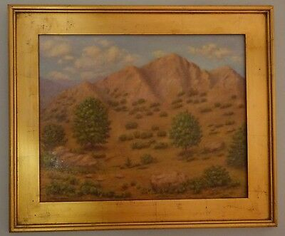 """Original Painting by Ann Campbell Newman """"Untitled"""" Landscape Southwest Mountain"""