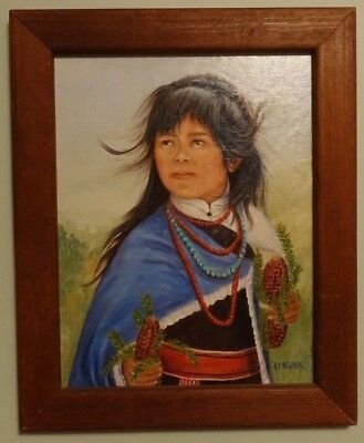"""Original Painting by Ann Campbell Newman """"Untitled"""" Portrait by Southwest Artist"""