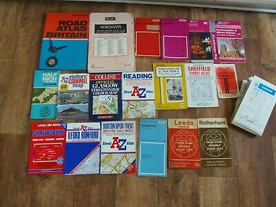 Job Lot Of 20 Vintage Maps Including Ordnance Survey, Bartholomew & A To Z