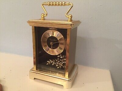 Working vintage style London Clock Co Battery W. German Quartz Carriage mantle