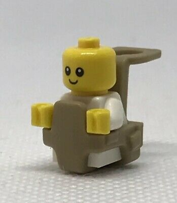 NEW GENUINE LEGO White Baby with Carrier Minifigure Mother Infant Mini Figure