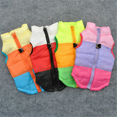 Pet Dog Cat Puppy Small Winter Vest Coats Warm Clothes Waterproof Jacket Apparel