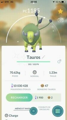 ✨shiny Tauros✨for Pokemon Go Direct Or Ultra Friend Trade