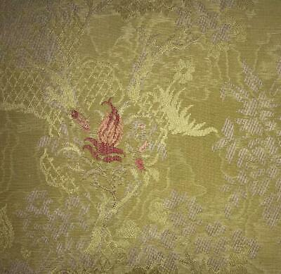 BEAUTIFUL PIECE 19th CENTURY FRENCH SILKY COTTON WATERED BROCADE 235