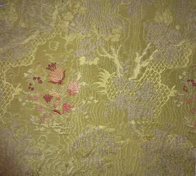 BEAUTIFUL PIECE 19th CENTURY FRENCH SILKY COTTON WATERED BROCADE 236