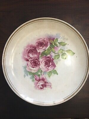 Dresden China Floral Plate Very Old Late 1800s-Early 1900s