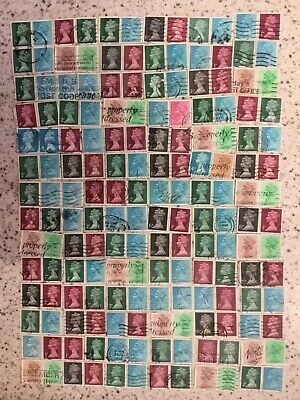 postage stamps collection booklet used machins
