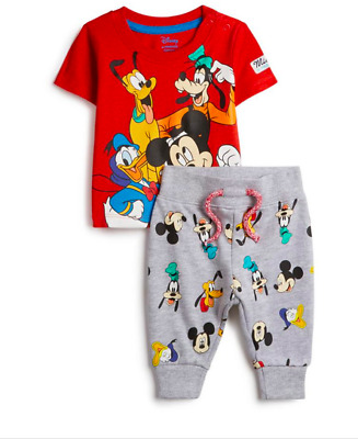 Primark Disney Mickey Mouse & Friends 2 Piece Baby Boy Tracksuit Set 0-36 Months