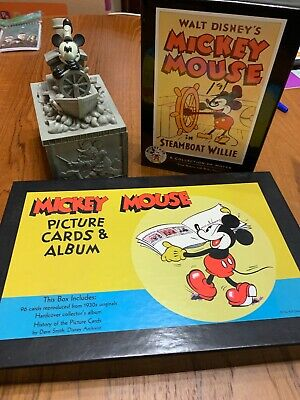Walt Disney Mikey Mouse Picture Cards Album & Jewerly Box
