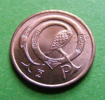 1971 Irish Half Penny Coin First Year Issued Superb High Grade Ireland 1/2p Bird