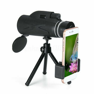 80X100 Monocular Telescope HD Zoom Optical Lens with Phone Clip Tripod Q9O5X