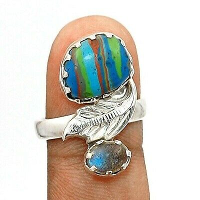 Wonderful Art Labradorite 925 Solid Sterling Silver Ring Jewelry Sz 7, C21-8