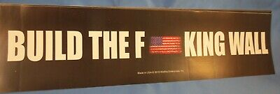 WHOLESALE LOT OF 10 TRUMP BUILD THE F*CKING WALL STICKER Damn 2020 GOP USA Flag