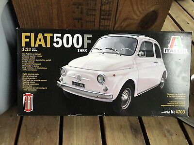 Italeri 4703 1:12 Fiat 500F 1968 Model Kit Unsealed
