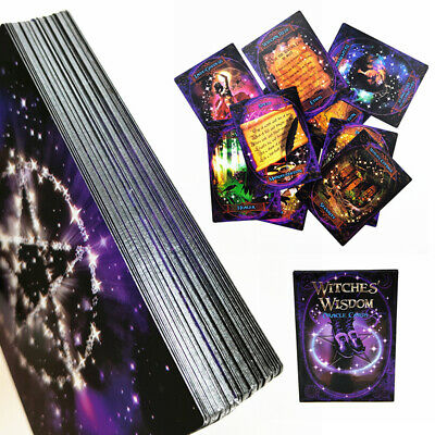 Witches Wisdom Oracle Cards Guidebook Tarot Readings Wiccan Pagan 48 Cards Magic