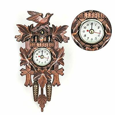 Cuckoo Clock Forest House Chalet Wall Pendulum Home Decor European Style Living