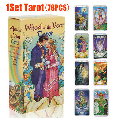 78 Tarot Cards Wheel of the Year Board Game Future Telling Game Deck Wiccan Tool