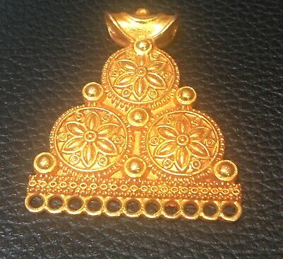 Afghan gold plated pendant handmade very beautiful pendant old  Pendant