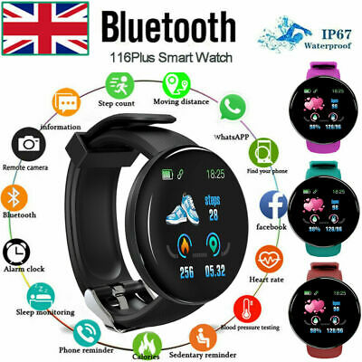 UK Stock Smart Watch Men Blood Pressure Heart Rate Waterproof Fitness Tracker