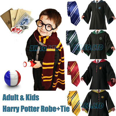 Harry Potter Serpentard Cravate Halloween Carnaval Cosplay Costume COS Robe Cape