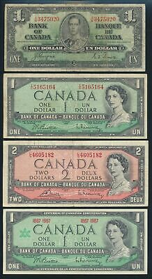 """Canada: 1937-2009 """"COLLECTION OF 12 DIFFERENT NOTES"""" including 2 Lucky Nos"""