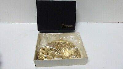 Vintage Original Oroton Gold Mesh Coin Purse In Box With Tag