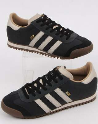 adidas ROM Trainers in Carbon Grey & Clear Brown - retro suede gum sole shoes