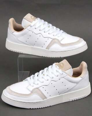 adidas Supercourt Trainers in White - classic look shoe, leather, Originals