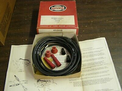 NOS OEM Ford 1964 Rotunda Partial Plug Wire Kit Wires Racing Mustang Fairlane +