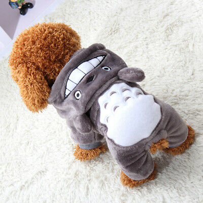 Warm Soft Pet Dog Cat Clothes Cartoon Puppy Costumes Autumn Winter Clothing UK