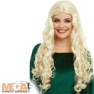 Ladies Mother of Dragons Wig Blonde Fancy Dress Costume Accessory New