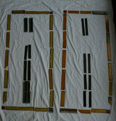 56 spare pieces for leaded light stained glass window panel. S895e