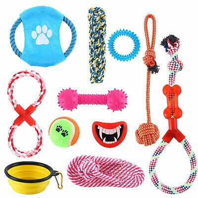 Homend Set of 11 Dog Toys, Puppy Chew Toys,Nature Teething Toy for Dental Health